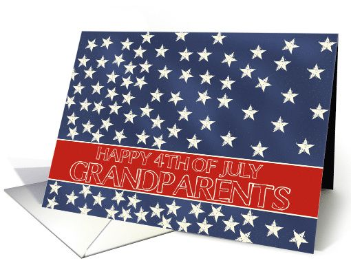Grandparents - Happy 4th of July stars