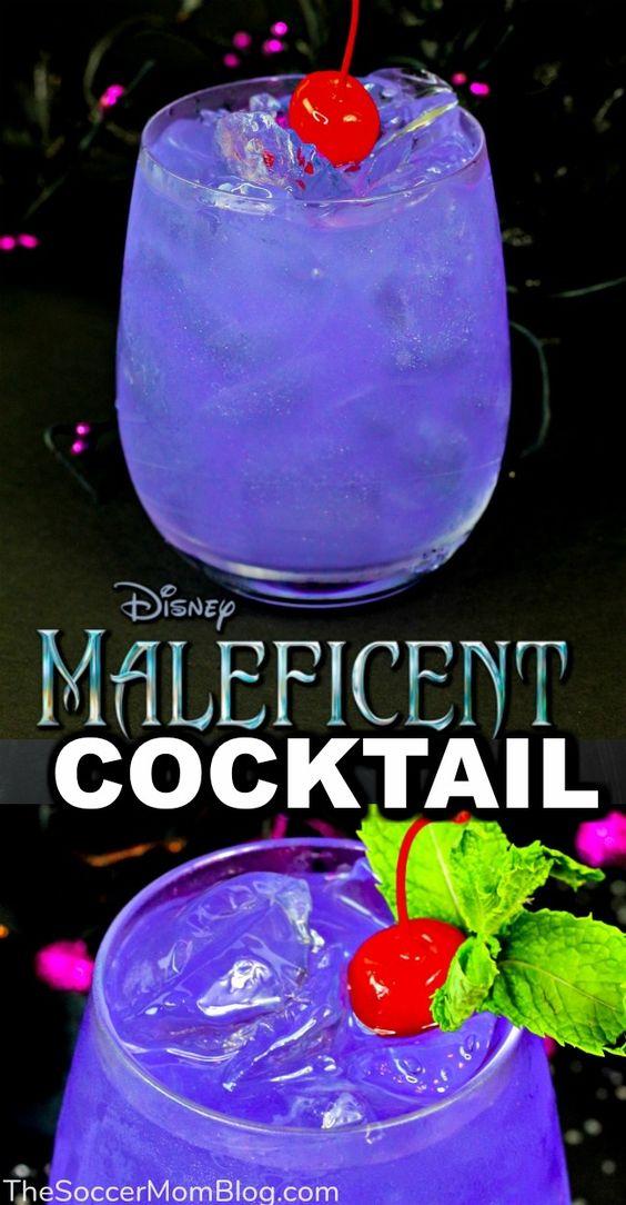 Maleficent Halloween Cocktail