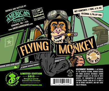 Flying Monkey Pale Ale - a special brew for Emerald City Comic Con