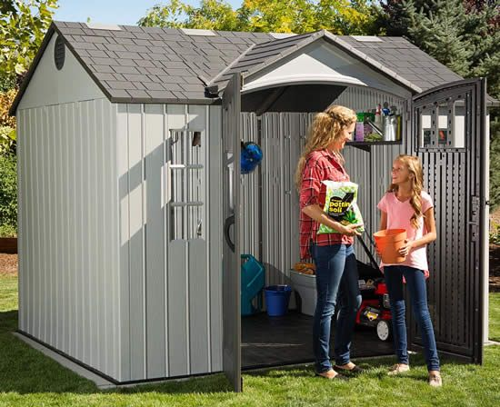 Lifetime 10x8 Outdoor Storage Shed Kit W Vertical Siding 60243 Outdoor Storage Sheds Shed Storage Shed Kits