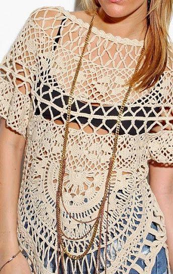Outstanding Crochet: Crochet tops from Foley + Corinna.