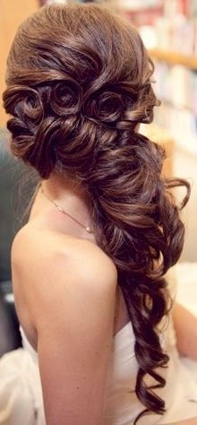 wedding hair? Mine is certainly long enough but this looks a little bird's nesty