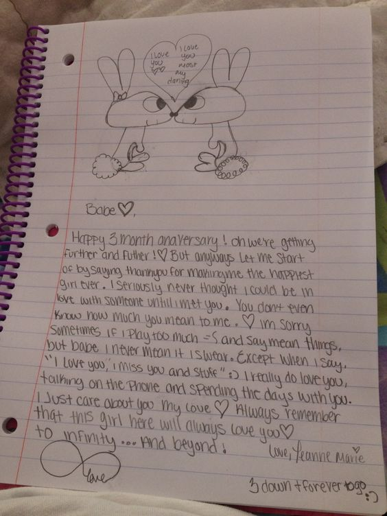 Cute love letter I wrote this for my boyfriend , then he broke up ...