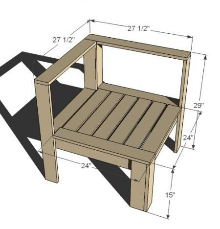I want to make this! DIY Furniture Plan from Ana-White.com Corner and end component for the Simple Modern Outdoor Sectional. Featuring a modern wood slat design.: