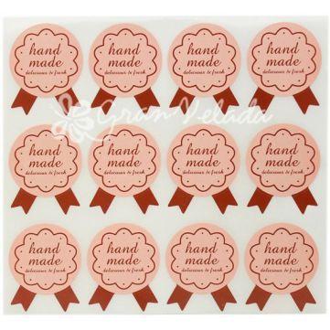 Pegatina handmade insignia stickers para decorar regalos ideal para artesanos blister de 12 - Pegatinas para decorar ...