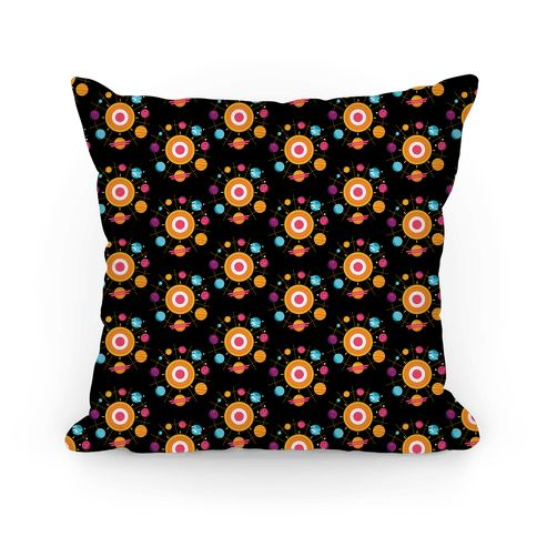 Get out into space with this intergalactic Solar System pattern pillow design featuring the planets of our Solar System (even Pluto!). Perfect…