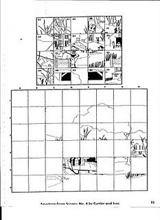 unscramble the gridded landscape drawing