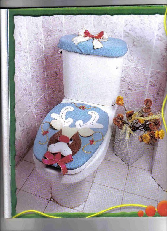 Creaciones Kathy Juegos De Baño: JUEGOS DE BAÑO NAVIDEÑOS, creaciones con moldes,