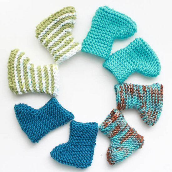 Beginner Crochet Baby Booties Pattern Free : Baby Bootie Knitting Pattern Knitting projects for ...