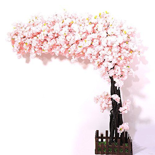 J Beauty Artificial Cherry Blossom Tree Thick Flower Light Pink Cherry Tree Artificial Plant For Artificial Cherry Blossom Tree Pink Blossom Tree Blossom Trees