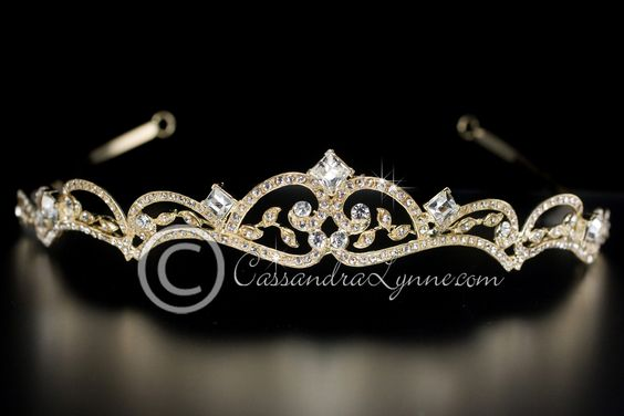 Wedding Tiara with a Simple Scroll Design | Traditional ...