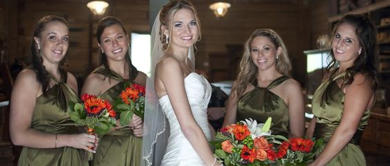 Country rustic bridesmaids Colors