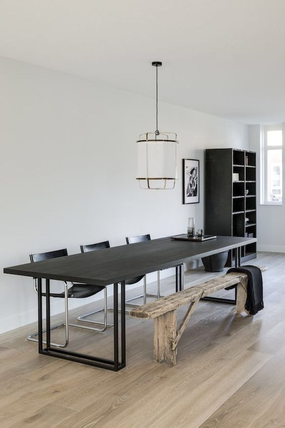 Minimalist dining room: