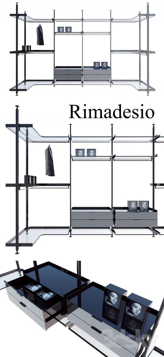 Rimadesio Zenit System 02 Living Rooms And Walk In Closets