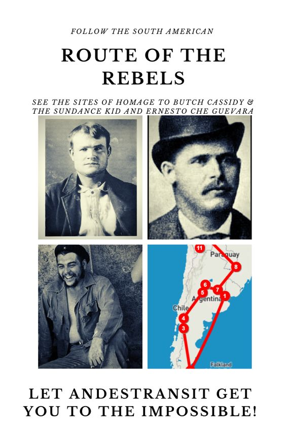 Follow the South American Trails of Butch Cassidy, the Sundance Kid, and Che Guevara (Pinterest)