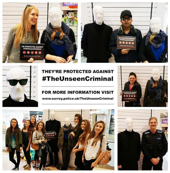 Guildford shoppers protected themselves today from #TheUnseenCriminal