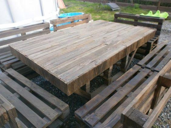 Complete Pallet Garden Set Pallet Ideas 1001 Pallets: Massive Pallet4 600x450 Massive Outdoor Garden Set In