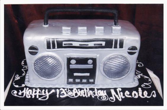 Boom box cake! Yo Gabba Gabba! cake by Helena Wirth Cakes in Sherman Oaks, CA