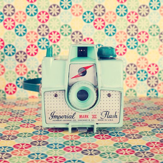 This is simply yummy! Film Mint Camera on a colorful retro background by Andreka x