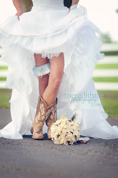 Country Bridesmaid Dresses With Boots | ... wedding dress wedding country wedding country cowgirl boots  @Allison j.d.m Kuehl n