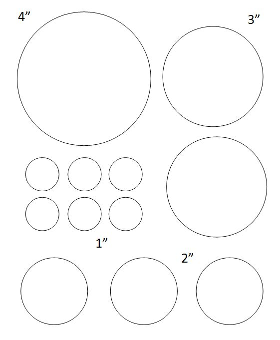 2 inch circle pattern Use the printable outline for crafts - circle template