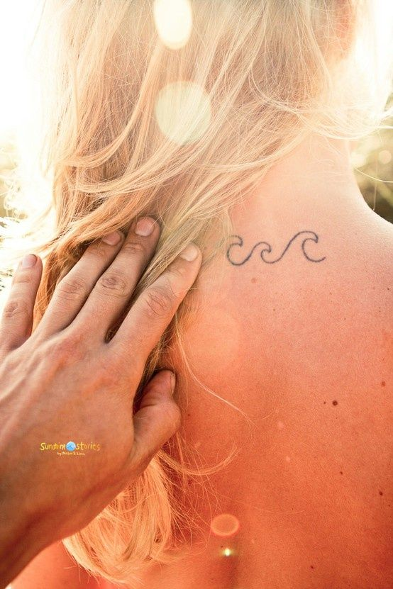 Waves wave tattoos and simple on pinterest for Simple wave tattoos