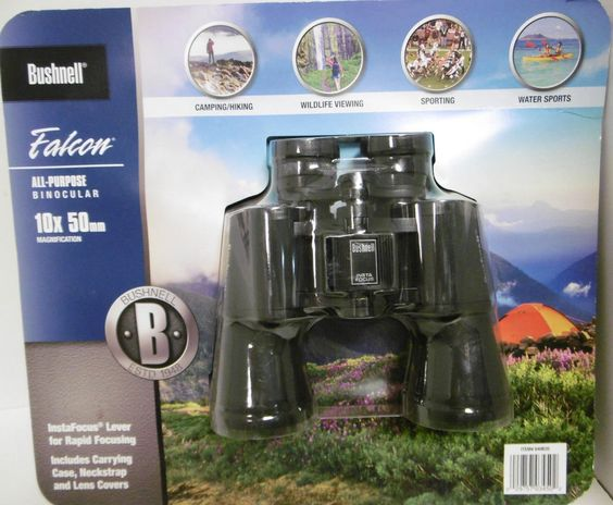 BUSHNELL FALCON ALL-PURPOSE BINOCULARS #133450CWB 10X50mm MAGNIFICATION /CASE B3 #Bushnell