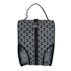 Shoe Bag in Tee Flower Black  http://www.desertgolfconnection.com/sunny-hawaii-shoe-bag-tee-flower-black.html  #teeprizes #golf #shoebag
