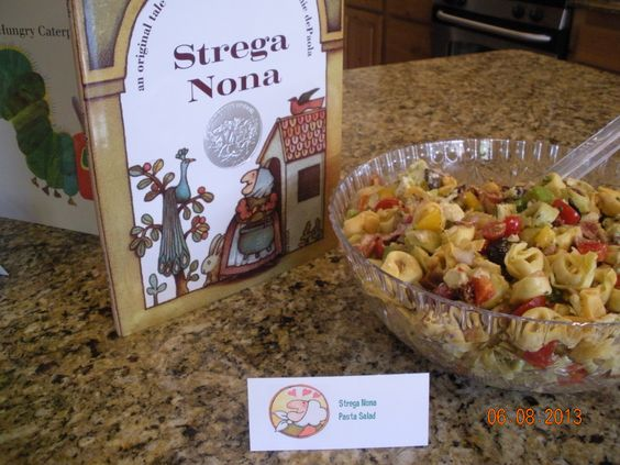 Strega Nona Pasta Salad from the Build-A-Library baby shower