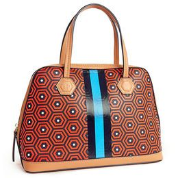 Online Warehouse Sale - Striped Honeycomb Duchess Satchel