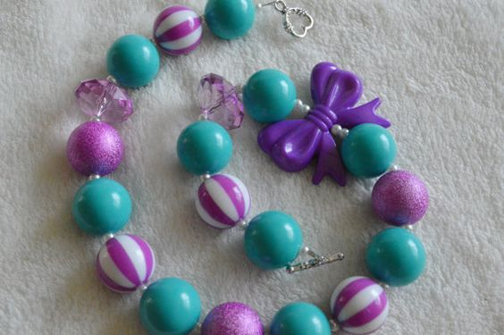 Girl's Teal and Orchid Gum Ball Photo Prop by leafytreetop on Etsy