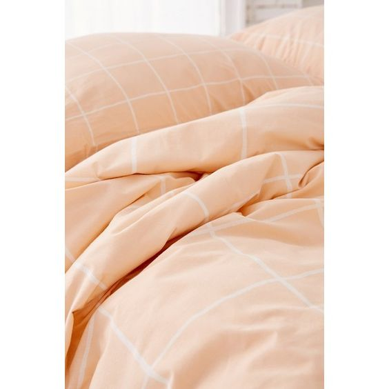 Wonky Grid Duvet Cover (£75) ❤ liked on Polyvore featuring home, bed & bath, bedding, duvet covers, king size bedding, cotton bedding, modern bedding, urban outfitters and king bedding