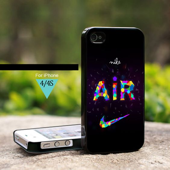 Nike Air Colorfull Abstrac - For iPhone 4/4s Case, Hard Cover
