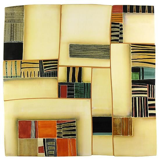 """""""Ragtime""""  Ceramic Wall Art    Created by Sara Post"""