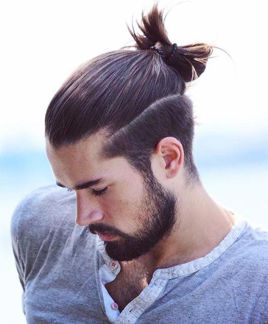 Pin By Karen U On Boys Kutz Man Bun Hairstyles Man Ponytail Hair Styles
