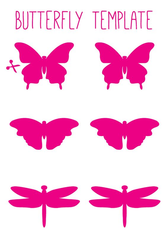How to Make Butterfly Wall Art Butterfly template, Butterfly art - butterfly template