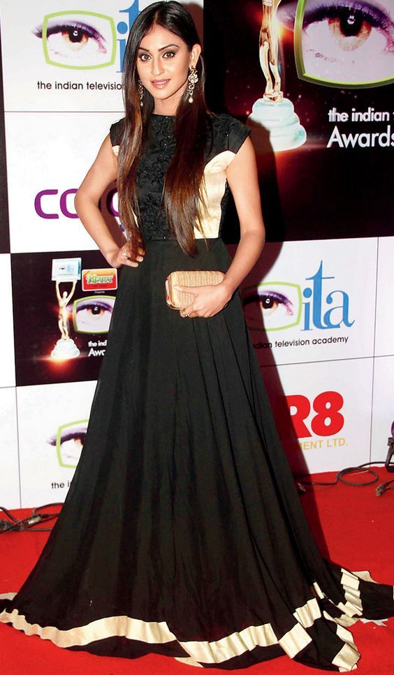 Krystle D'Souza at the 14th Indian Television Academy Awards 2014. #Bollywood #Fashion #Style #Beauty:
