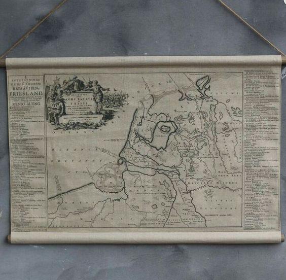 Landkaart Friesland van stof www.huisjemetspulletjes.nl