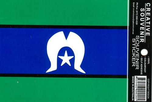 Torres Strait Island  Flag Sticker  vinyl colourfast Made In Australia  Price:- 1-19 @ $2.80 20-49 @ $2.70 ea 50-99 @ $2.50 ea 100+ @ $2.20 ea