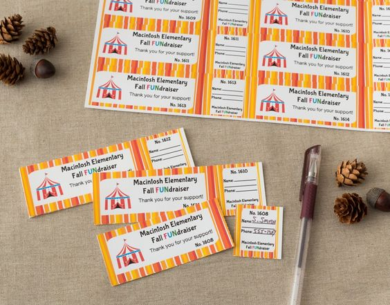 Itu0027s easy to create personalized tickets right from your printer - fundraiser template free