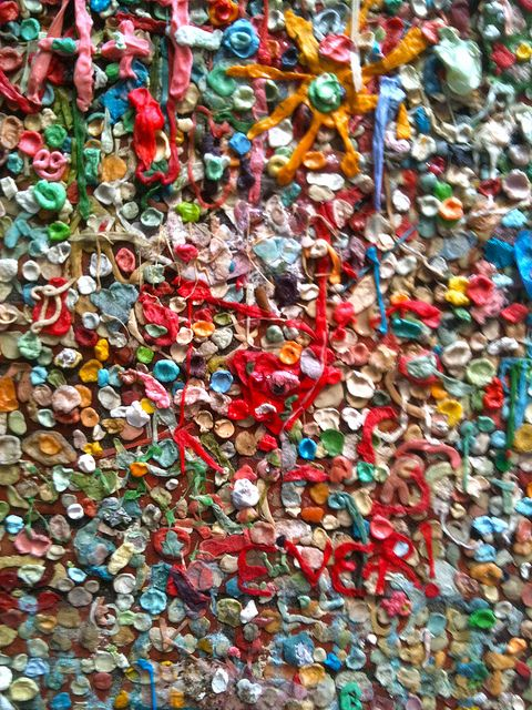 Gum Wall in Post Alley, Seattle