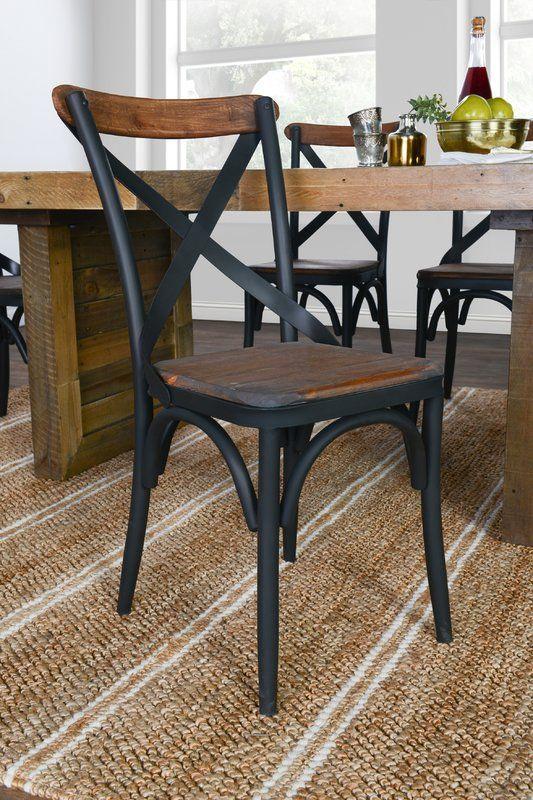 Bentley Metal Cross Back Side Chair Solid Wood Dining Chairs Dining Chairs Diy Dining Chairs