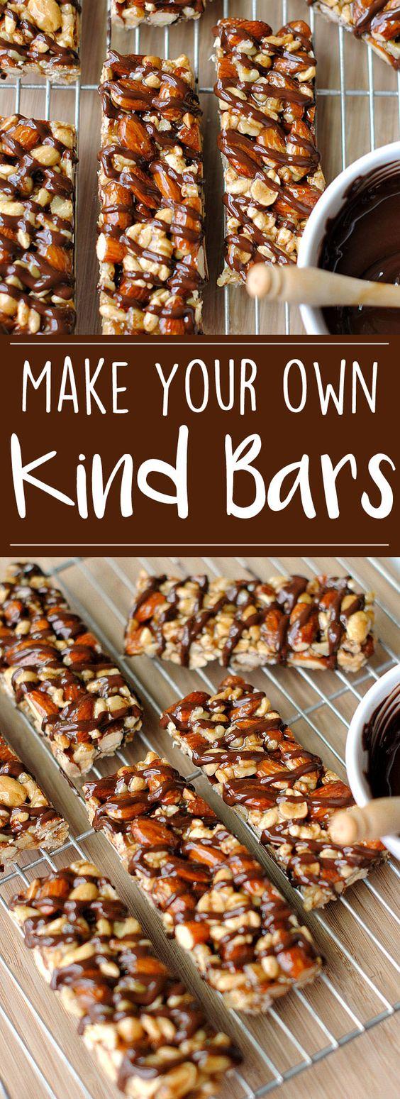 "Homemade ""KIND"" Bars | Eat Yourself Skinny"