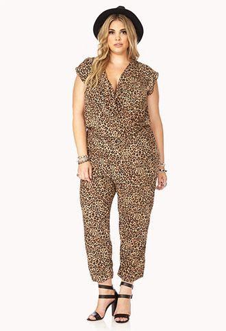 leopard jumpsuit worn in the 80s | Safari Girl Leopard Jumpsuit $27.80 | STYLE> Plus Size