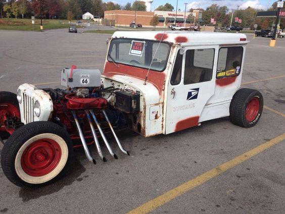 Rat Rod Postal Jeep