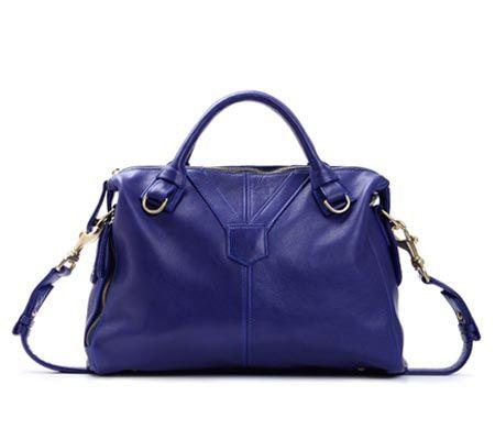 Rachel Nasvik Phoebe satchel in cobalt blue