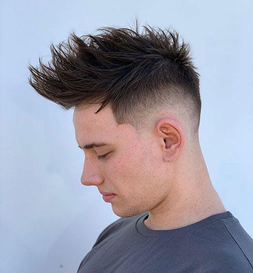 50 Impressive Spiky Hairstyles For Men Spiky Hair Hairmanz In 2021 Mens Hairstyles Spiky Hair High And Tight Haircut