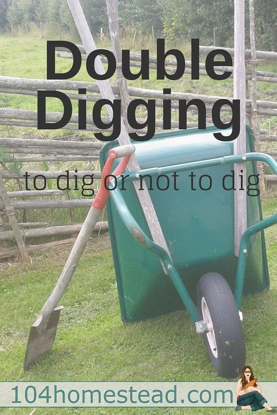 "There is much debate on whether or double digging is a good idea. May big-time gardening experts say you should, other say ""no way! It destroys the soil!"":"