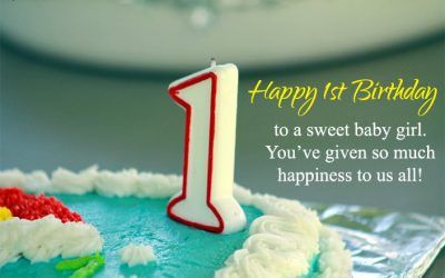 Happy First Birthday Quotes Impresionante My True Quotes And Sayings True Status For Whatsapp 1st Birthday Quotes Birthday Girl Quotes 1st Birthday Wishes