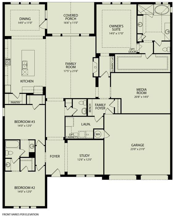 tinsley, 125 | drees homes interactive floor plans | custom homes